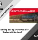 Schließung der Sportstätten der Kreisstadt Mosbach
