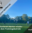 MFV-Junioren starten wieder mit dem Trainingsbetrieb