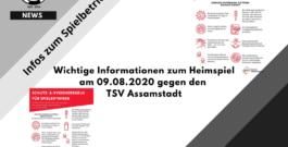 Wichtige Informationen zum Heimspiel am 09.08.2020 gegen den TSV Assamstadt
