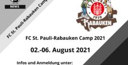 FC St. Pauli-Rabauken Camp vom 02.08.-06.08.2021 beim MFV